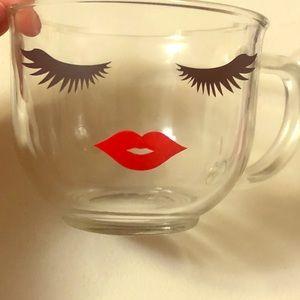 18oz glass mug